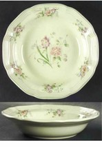 Mikasa Peony Bouquet F2013 Rimmed Soup Bowl Width: 8 1/2 in Muave Purple... - $10.93