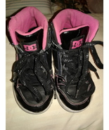 DC Rebound Sneakers Shoes Girls Sz 3 Athletic Hi Tops  - $12.00