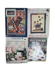 Quilt Patterns And Sewing Projects Assorted Shapes Patriotic Floral 4 Books - $15.67