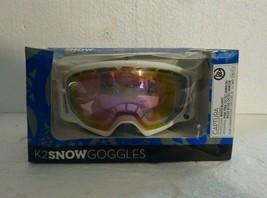 New in Box K2 Captura Ski Goggles One Size White Frame Pink Mirrored Len... - $53.20