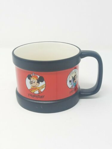 Primary image for Disney Store Mickey Mouse Club Days of the Week ceramic coffee mug