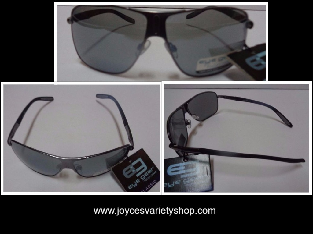 Primary image for Foster Grant Eyegear Sunglasses NWT Dark Grey Metal Frame100% UVA UVB