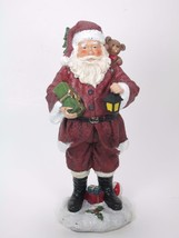 "9.5"" Traditional Santa Claus Figurine with Toy Sack & Christmas Tree Decor - $15.79"