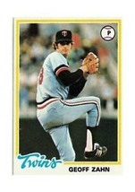 1978 Topps Geoff Zahn Minnesota Twins #27 Baseball Card - $1.83