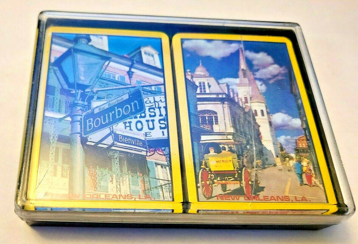 Bourbon Street Double Deck Playing Cards Made In Hong Kong