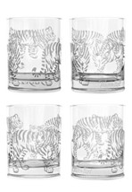 Mignon Faget Tiger, Tiger Double Old Fashioned Glasses, Set of 4 - $50.64