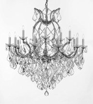 Made with Swarovski Crystal Maria Theresa Chandelier Lights Fixture Pendant Ceil - $832.39