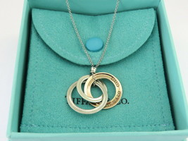 Authentic TIFFANY & CO Silver RUBEDO Metal 1837 Interlocking Circles Necklace - $148.15