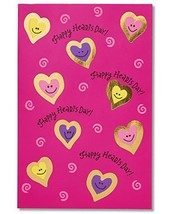 American Greetings Happy Hearts Day Valentine's Day Cards with Foil, 6-C... - $7.94