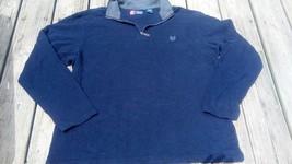 XL Sweater CHAPS MENS BLUE  ZIPPER COLLAR SIZE XL 100% Cotton Ralph Lauren - $10.89
