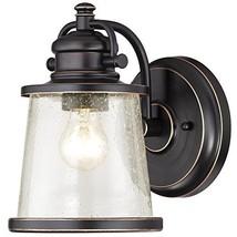 Westinghouse 6204000 Emma Jane 1 Light Outdoor Wall Lantern, Amber Bronze - $45.45