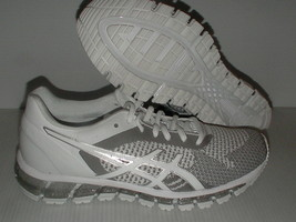 Asics gel women shoes race quantum 360 white knit silver snow size 8 - $136.98