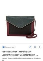 Rebecca Minkoff mini Marlowe black portwine cross body bag purse handbag - $60.00
