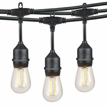 36FT Waterproof Outdoor Heavy Duty Dimmable LED String Lights Set Commer... - €39,95 EUR