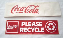 World of Coca-Cola Las Vegas Soda Jerk Hat and  Please Recycle Bumper St... - $19.99