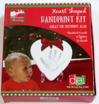 Heart Shaped Handprint Kit Keepsake Memory DIY Clay Tool Ribbon Foot Pri... - $16.82