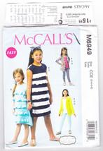 Pattern McCalls 6949 Girls Size 3 4 5 6 Dresses Belt Leggings Easy, 2014 - $3.99