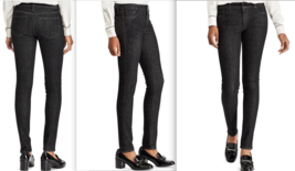 $125 Lauren by Ralph Lauren Women's Black Floral Embroidery  Skinny Jean... - $59.39