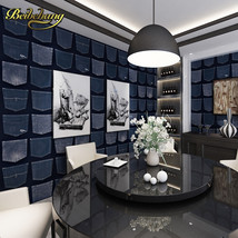 beibehang wall paper. Pune vintage jeans British style paper wallpaper living ro - $99.95