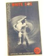 1966 Chicago White Sox Baseball Scorecard vs Cleveland Indians GD Scored - $3.94