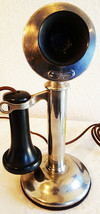 Western Electric Nickel Plated Candlestick Telephone Circa 1900 image 1