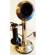 Western Electric Nickel Plated Candlestick Telephone Circa 1900 - $395.00