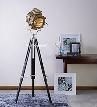 Nauticalmart Authentic Designer Sheesham Wood And Brass Finish Tripod Floor Lamp - $195.02