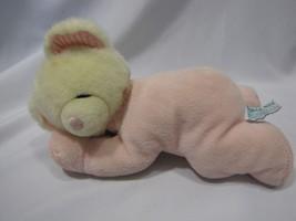 RUSS NIGHTY NIGHT NITE PINK WHITE STUFFED LAYING LYING SLEEPY TEDDY BEAR... - $34.64