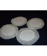 Hand Crocheted Doilies Coasters set of 10 pieces - $21.00