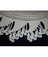 Hand crocheted Doily with heavy Crocheted edge - $9.99