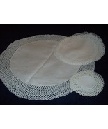 Seven (7) piece Hand Crocheted Doilies Lot #1 - $14.99