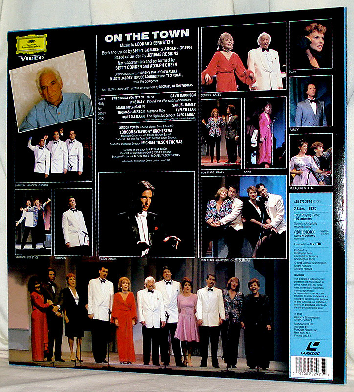 Going 'On the Town' Live With Frederica Von Stade On Mint Concert Laser Disc