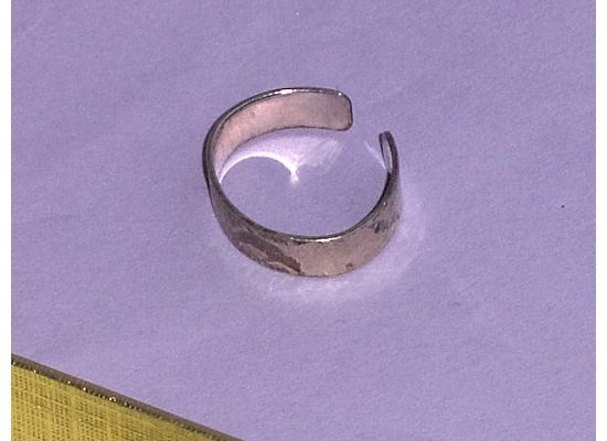 Sterling Silver Dolphin Adjustable Ring Toe Ring Size 3