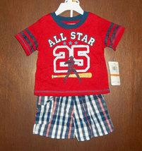 "Baby Togs Infant Boys ""All Star #25"" Short Set   - $28.00"