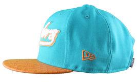 Leaders1354 Chicago New Era Varsity Teal/Orange Strapback Baseball Hat Cap Miami image 4