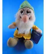 "Sleepy Dwarf 10"" Sitting Plus Hat Plush Walt Disney 7 Dwarfs Mint with Tag - $11.08"