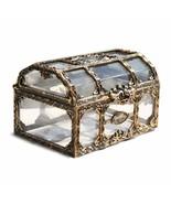 Pirate Design Coin Storage Box Treasure Chest Metal Lock Jewelry Storage - $6.99