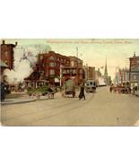 Washington Street Trolley and Depot Salem Massachusetts Vintage Post Card - $6.00