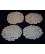 Four Hand Crocheted Doilies varying sizes - $8.99