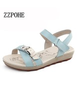 ZZPOHE 2017 Summer new women fashion sandals casual comfortable flat bea... - $33.30