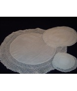 Seven (7) Piece Set of Doilies Hand crocheted Lot #2 - $18.50