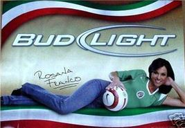 Budweiser Bud Soccer Beer Poster Sign Rosana Franco Hot - $17.34