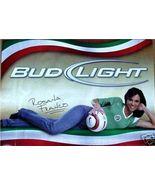 BUDWEISER BUD SOCCER BEER POSTER SIGN ROSANA FRANCO HOT - $17.34