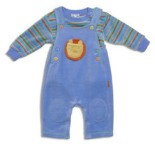 "Le Top Boys ""Zoo-rific"" Velour Overall Set  - $40.00"