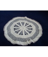 "Nice Hand Crocheted Doily 12 1/2"" Diameter - $9.99"