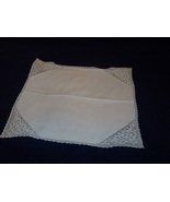 "Crocheted handwork Linen center 15"" Square - $8.99"