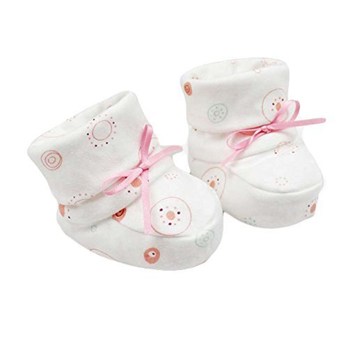 White Double Layer Cotton Soft Sole Baby Shoes Cute Infant Shoes Boy Girl Shoes