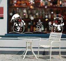 1Pcs Christmas Tree Snowman Snowflake Wall Sticker Window Glass Xmas Dec... - $8.04