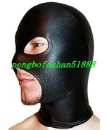 Unisex Hood/Mask Black Shiny Metallic Mask Hood Piece Open Eyes/Mouth S901 - $15.99