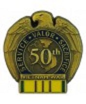50TH ANNIVERSARY VIETNAM WAR with Vietnam Service Ribbon - $7.91